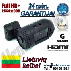 Full HD+ R19 GPS Pro Vaizdo registratorius su Lietuviška programine įranga | Video registratorius