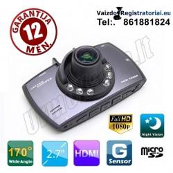 Full HD Vaizdo registratorius su Lietuviška programine įranga | Video registratorius R20 EN 170