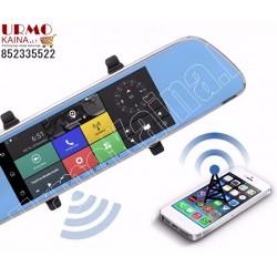 Vaizdo registratorius ANDROID veidrodis su dviem kamerom, navigacija ir 3G | MIRROR M97AK