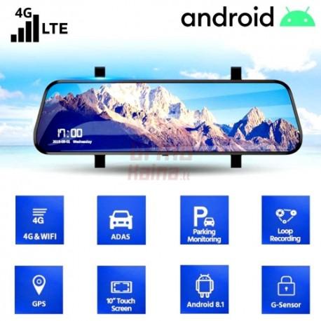 Vaizdo registratorius M81K Android su galinio vaizdo kamera